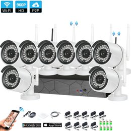 $enCountryForm.capitalKeyWord Australia - 8PCS Home CCTV Security System Wireless 8CH 960P NVR 1.3MP IR-Cut Indoor Outdoor P2P Wifi IP Weatherproof Camera System Surveillance Kit