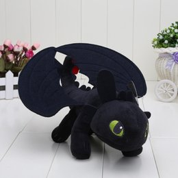 train dragon stuff NZ - 5pcs lot Hot Movie 23cm How To Train Your Dragon 2 Night Fury Toothless Dragon Stuffed Animal Plush Doll Baby Toy J190506