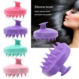 $enCountryForm.capitalKeyWord NZ - Handheld 5 Colors Silicone Scalp Shampoo Massage Brush Washing Shower Head Hair Comb Mini Head Meridian Massage Wide Tooth Comb