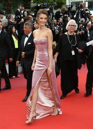 $enCountryForm.capitalKeyWord Australia - 2019 Popular Dusty Rose high Slit Cheap Prom Red carpet Dress Sweetheart Sheath Cannes Film Festival Celebrity Formal Gowns Evening Dress