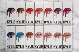 41 Farben KYLIE JENNER Lippenstift Lipgloss Lipliner Lipkit Velvetine Liquid Matte Kits Samt Make-up Liner Bleistift Keyshadow Schönheit DHL frei. im Angebot