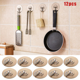 kitchen utilities NZ - Durable 12Pcs Self Adhesive Wall Hooks Round Seamless Nail Free Towel Hooks for Kitchen Bathroom Utility 66CY