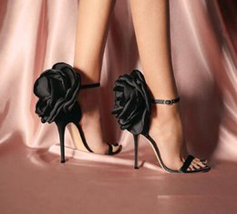 Wholesale Summer Big Butterfly knot Women Sandals Stiletto High Heel Shoes Ankle Strap OL Sexy Pump Party Wedding Shoes Size