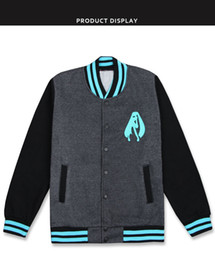 $enCountryForm.capitalKeyWord Australia - 2019 Anime VOCALOID Hatsune Miku Baseball Uniform Cosplay Costume Cardigan Hoodie Thicken Jacket Daily Casual Sweatshirts