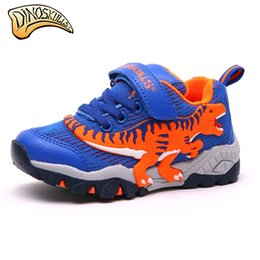 ae167baad3f0a3 Dinoskulls Children Kids Boys Shoes Sneakers Mesh Breathable Sport Shoes  2017 Running Sneakers Casual 3D Dinosaur Shoes