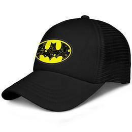 Cool Unisex Kids Hats Australia - The superher Batman primary logo kids baseball caps Curved Teen baseball cap Youth black cap cool hats hats