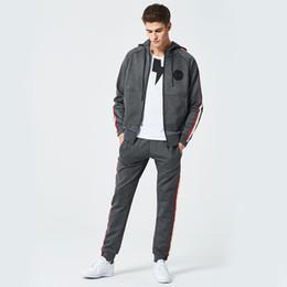$enCountryForm.capitalKeyWord Australia - 2018 Fashion Men Hoodies Sweatshirts Suits Autumn Casual Mens Jogger Sporting Set 2PC Zipper Patchwork New Brand Male Tracksuit