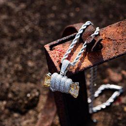 $enCountryForm.capitalKeyWord Australia - Iced Out Catch The Money Pendant Necklace Micro Paved Cubic Zircon Luxury Designer Hip Hop Jewelry for Men Women