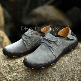 Waterproof Summer Shoes Australia - Spring and summer hiking shoes breathable waterproof casual outdoor sports shoes leather non-slip soft soles walking shoes, large size 38-48
