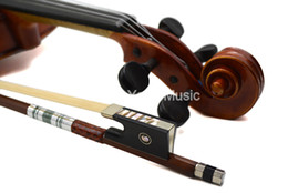 violin bow hair Australia - Violin Bow Double Fish Eye Shell Inlay Ebony Frog Silver Snake Skin Twined Brazil Wood Horse Hair 1 8 1 4 1 2 3 4 4 4