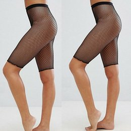 $enCountryForm.capitalKeyWord NZ - Fashion Black Medium Grid Women High Waist Stocking Fishnet Club Tights Panty Knitting Net Pantyhose Trouser Mesh Lingerie Half