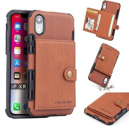 $enCountryForm.capitalKeyWord NZ - New luxury leather case for iphone XR XS MAX X 6S 7 8 plus cell phone case credit card slots for Samsung Galaxy S8 S9 S10 Plus Note 8 9 slim