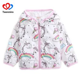Baby Girls Spring Jackets Australia - 2018 Spring Kids Unicorn Jackets for Girls Coats Rainbow Baby Girl Jacket Cartoon Hoody Children Windbreaker Autumn Clothing 1-5