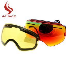 $enCountryForm.capitalKeyWord Australia - 2017 New Brand Double Anti-fog Big Spherical Skiing Goggles Professional Ski Eyewear Unisex Snow Goggles with Night Vision Lens