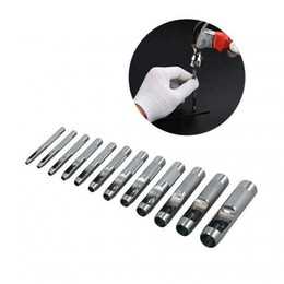 $enCountryForm.capitalKeyWord UK - 12Pcs Set Hollow Punch Hole 3-16mm Leather Tools Craft Plastic Cutter Washer DIY For Making Bags