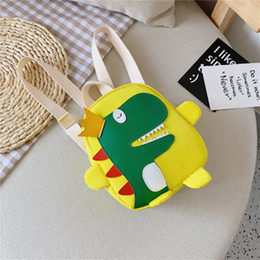new backpacks Australia - Korean Children's Bags 2019 Autumn Winter New Backpack Cartoon Kindergarten Cute Dinosaur For Girls Boys Baby Small School Bag
