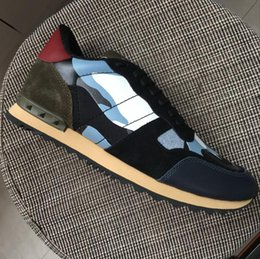 $enCountryForm.capitalKeyWord Australia - New Arrivals Men Women Suede Back Camouflage Canvas With Leather Patchwork Low Top Sneakers,Designer Brand Rivets Casual Shoes 35-45