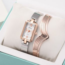 ladies watch bracelet set Canada - horloges Designer Light Luxury Lady Temperament Watch Bracelet Set Wristwatch Women Chain Watch Birthday Gift reloj mujer Lady