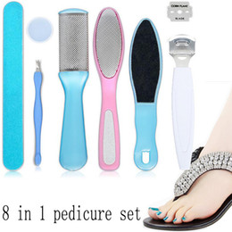 foot hard skin remover NZ - 2017 New 8 in 1 Foot Care Pedicure Machine File Hard Skin Cutter Cuticle dead skin Remover Shaver Accessories Beauty feet Set