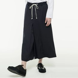 flattering plus size clothes Canada - 27-44 New 2019 Men's clothing Hair Stylist Designer Ultra-loose bellbottoms Wide Leg Pants Culotte plus size costumes