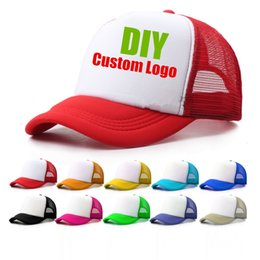 $enCountryForm.capitalKeyWord Australia - 1 Piece Custom Logo Mesh Hats Men's Trucker Hat Cheap Adult Adjustable Polyester Baseball Caps Women Snapback Hat Free Design