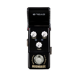 chorus flanger pedal Australia - Joyo Ironman Mini Series JF-332 MOONBASE BASS Overdrive Effect Guitar Pedal Black With Gold Pedal Connector and Mooer Knob