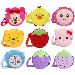 $enCountryForm.capitalKeyWord Australia - Cute Cartoon Animal Mini Plush Backpack Baby Toy School Bag Kids Outdoor Travel Pack Bag Student Duck Strawberry Bags
