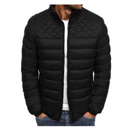 Wholesale packable down jacket for sale – warmest winter 4 Colors Men s Autumn Winter Zipper Warm Down Jacket Packable Light Top Quality Coat Cotton Clothes S XL