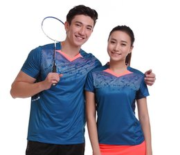 Sportswear T Shirt Badminton Australia - Running Gym Sportswear Quick Dry breathable badminton shirt,Women Men table tennis clothes game short sleeve fitness T Shirts