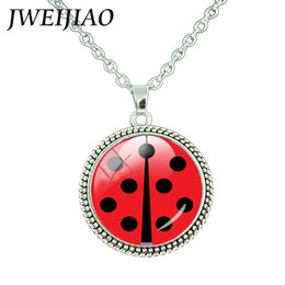 Chinese  TAFREE Miraculous Ladybug Necklace Comic Lady Bug Girl Charm Necklace Pendant Glass Cabochon Jewelry Kids Toy Gifts LB01 manufacturers