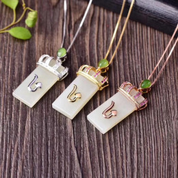 beautiful pendant sets Australia - S925 necklace natural and Tianyu pendant set beautiful crown pendant