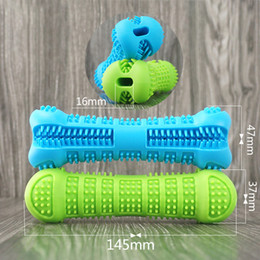 Silicone Toys Australia - Dog Toothbrush Toy Brushing Stick Pet Molar Pet Chew Toys Silicone Cleaning Tool Green Blue Puppy Tooth Healthcare Teeth Brush for Dog 2019