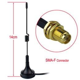 Vente en gros Nouvelle antenne 14cm pour véhicule magnétique 14cm SMA-F UHF400-470MHz 5W pour Kenwood Baofeng Hot