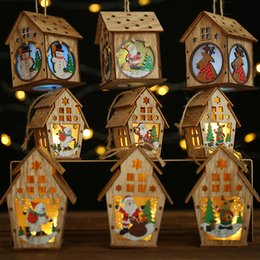 $enCountryForm.capitalKeyWord Australia - DIY Led Light Wooden House Christmas Tree Decoration Elk Santa Clause Snowman Hanging Pendant Merry Christmas Decor for Home