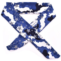 $enCountryForm.capitalKeyWord Australia - camo tie back headbands yoga fitness sports hair bands fashion pirate sweatbands workout riding running men women Moisture Wicking scarves