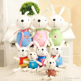 Cloth Bouquet Australia - 12CM Small Rabbit Plush Toys Stuffed&Plus Animals 4.8inch Lace skirt Cute Lovely dolls bouquet gift toy children Home wedding interactive