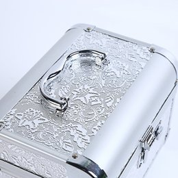 Cosmetic Bags Locks Australia - Fashion Cosmetic Case Personality Password Lock Beautiful Box Alloy Makeup Bag Portable White Durable Large Capacity Safety