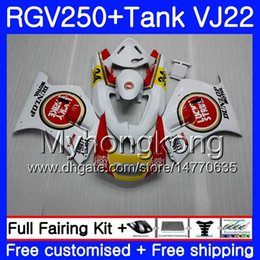 Wholesale Corpo + Tanque Para SUZUKI VJ21 RGV250 88 89 90 91 92 93 307HM.3 RGV-250 Lucky Strike novo VJ22 RGV 250 1988 1989 1990 1991 1992 1993 Kit de carenagem