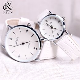 girl watch simple Australia - KEVIN KV Fashion Cpuple Watch Leather Men Women Watches Students Gift Present Simple Quartz Wrist Watch Girls Boys Dropshipping