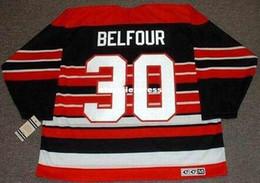 $enCountryForm.capitalKeyWord Australia - custom Mens ED BELFOUR Chicago Blackhawks 1992 CCM Jerseys Vintage Cheap Retro Hockey Jersey