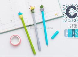 $enCountryForm.capitalKeyWord Australia - wholesale Korean Stationery Cute Cactus Pen Advertising Gel Pen School Fashion Office Kawaii Supply