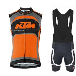Cycling Gel Pads NZ - 2019 Team KTM cycling jersey 9D gel pad bike shorts set MTB Ropa Ciclismo mens Breathable summer Bike Jersey bicycling Maillot wear