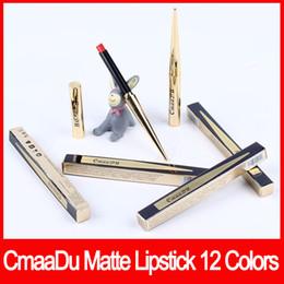 Tube bulleT online shopping - Lip makeup CmaaDu Colors Matte Lipstick Lip Waterproof Makeup Lasting Lip Stick Maquiagem with Gold Bullet Shape Tube