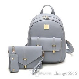 Cute Backpacks For Teenage Girls Australia - Fashion Composite Bag Pu Leather Backpack Women Cute 3 Sets Bag School Backpacks For Teenage Girls Black Bags Letter Sac A Dos