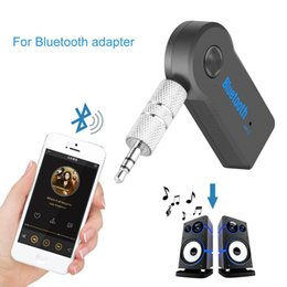 handsfree car kit iphone Canada - Universal 3.5mm Bluetooth Car Kit Wireless Audio Music Receiver Adapter Handsfree with For Phone Retail Box