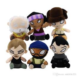 Figures Australia - 14cm The Walking Dead Plush Toys Figures Michonne Hershel Glenn Stuffed Soft Dolls Kids Toys Collectible Free Shipping