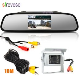 "$enCountryForm.capitalKeyWord NZ - White 18 LED IR CCD Car Bus Reverse Reversing Parking Backup Camera Waterproof + 4.3"" LCD Vehicle Rear View Mirror Monitor"