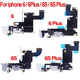 Iphone Plus Dock Connector Australia - for iPhone 6 6 Plus 6S 6S Plus Charging Port Flex Charger Data USB Dock Connector with Headphone Audio Jack Mic Antenna Cable For iphone 6