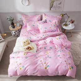Bedding sets for adult girl online shopping - King Size Bedding Set For Girls Pink Sweet Economical Floral Duvet Cover Queen Single Double Full Twin Soft Bed Cover with Pillowcase