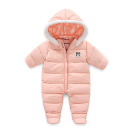 Warm Suits For Winter Australia - Winter Jumpsuit for Babies Newborn Baby Girls Boys Rompers Warm Infant Suit Cotton Children Outerwear for Birthday 1 2 Years